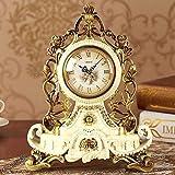 WW Tischuhr Europäischen Stil Uhr Kreative Ruhe Uhr Persönlichkeit Sitzen Uhr Wohnzimmer Große Schaukel Uhr Quarzuhr Dekorative Tischuhr,BBB