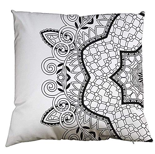 Shower Curtain DIY Graffiti Painting6 Thickened Composite Silk Like Silk Throw Pillow Covers Comfortable Cushion Covers Super Soft Pillowcase Decorative for Sofa Bed Square 18X18 In -