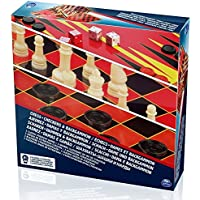 Spinmaster 6033211 Value Chess/Checkers and Backgammon Set