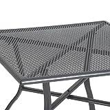greemotion Gartentisch Toulouse eckig, quadratischer Tisch aus kunststoffummanteltem Stahl, Esstisch mit Niveauregulierung, eisengrau - 3