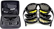 Polarized Army Goggles, Military Sunglasses 4 Lens Kit, Men's War Game Tactical Glasses Outdoor Sports Set of 9