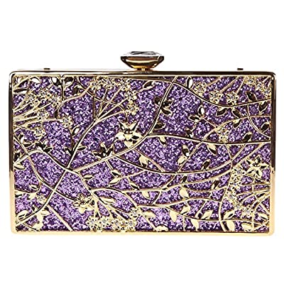 Bonjanvye Floral Handbags For Womens Purse Party Clutches