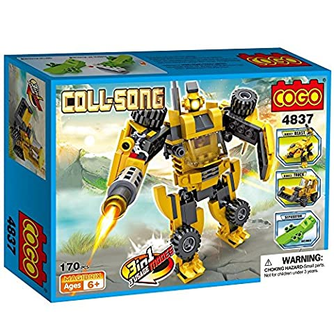 Cogo 3 in 1 kit – Beast/Bulldozer/Armee Roboter Solider Educational Multi Bausteine Konstruktion Baustein-Set