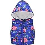 H.Eternal Baby Girl Boys Floral Flowers Vest Gilet Hooded Warm Waistcoat Tops Old Kids Sweater Cardigan Autumn Winter…