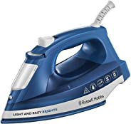 Russell Hobbs 2400W Light and Easy Brights Ceramic Soleplate Steam Iron, Sapphire/Blue - 24830