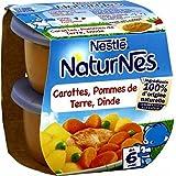 Naturnes carottes pommes de terre dinde 400g dès 6 mois - ( Prix Unitaire ) - Envoi Rapide Et Soignée