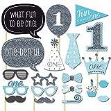 buydirect 20PCS Unisex Baby Dusche Reveal Party Foto Booth Props Party Favor Geburtstage verkleiden Zubehör Kostüme
