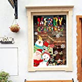 Etiqueta de la pared ZOZOSO Cartoon Christmas Elk And Bear Christmas Window Glass Background Etiqueta de la pared decorativa extraíble