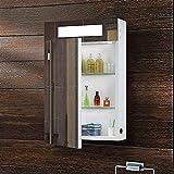 Panana Badzimmer Spiegelschrank mit LED Licht, Sensorschalter , Steckdose, Demister 40x60x11cm...
