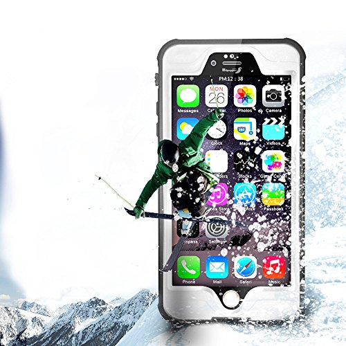 Yihya Nuova Versione Durevole Completa Sealed Impermeabile Protettiva Copertura Custodia per Apple iPhone 6 6S 4.7  Antiurto Snowproof Antis-porco Case Cover Submarine Housing Skin con Altri Accessor Bianco