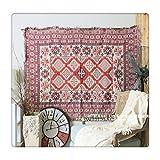 129,5x 170,2cm Überwurf gewebte Teppiche Decke Ethno Hippie-Baumwolle-Mischung Sofa,