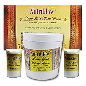 NutriGlow Luster Gold Bleach Cream With Real Gold Dust & Vitamin E 300g