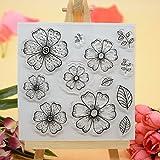 Voller Freude HOME Blumen DIY Gummi klar Stempel für Karte machen Dekoration und Scrapbooking