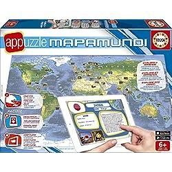 Puzzles Educa - Appuzzle Mapamundi de 150 piezas (15894)