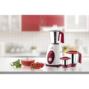 Bajaj Majesty Classic 750-Watt Juicer Mixer Grinder White & Red