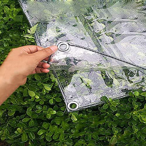 LXF Lona transparente suave Cubierta impermeable para suelo Cubiertas de tela Cobertizo, Tienda de campaña cubierta para remolque Película de plástico para interiores, al aire libre (Tamaño : 1Mx1M)