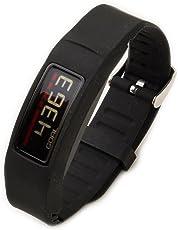 Greatfine Armband for Garmin Vivofit 2 Armband Fitnessarmband mit Chrom Uhrschnalle for Alle (Black)