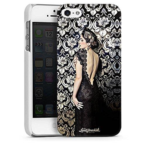 Apple iPhone 5 Housse étui coque protection Anna Karénine Mode Fashion CasDur blanc
