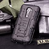 Cocomii Robot Armor LG G2 Mini Hülle [Strapazierfähig] Erstklassig Gürtelclip Ständer Stoßfest Gehäuse [Militärisch Verteidiger] Ganzkörper Solide Case Schutzhülle for LG G2 Mini (R.Black)