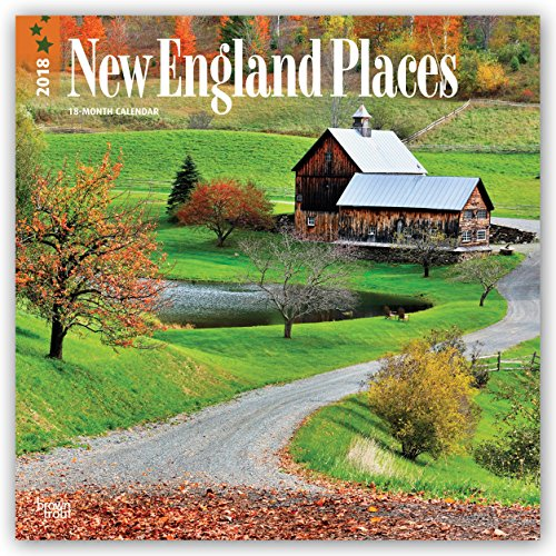 Preisvergleich Produktbild New England Places - Neuengland 2018 - 18-Monatskalender mit freier TravelDays-App: Original BrownTrout-Kalender [Mehrsprachig] [Kalender] (Wall-Kalender)