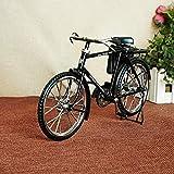 KIKIXI Kreatives Ultra-Vintage-Fahrrad für Herren mit Geldbörse Handgefertigte Metallornamente Vintage-Wohnkultur Ultra-realistisches altmodisches Fahrrad schwarz