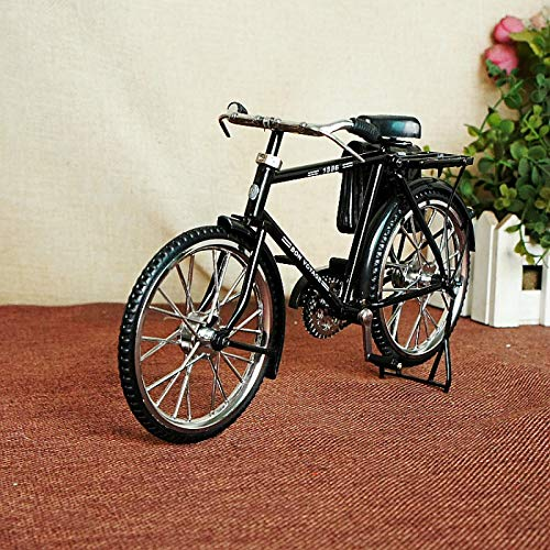KIKIXI Bicicleta Ultra-Vintage Creativa para Hombres con Monedero. Adornos de Metal Hechos a Mano. Decoración Vintage Vintage. Bicicleta Antigua Ultra Realista y Negra.