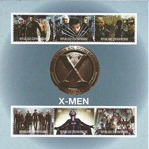 collectables-sellos-x-men-marvel-dc-comics-pelicula-mnh-stamp-sheetlet-2016