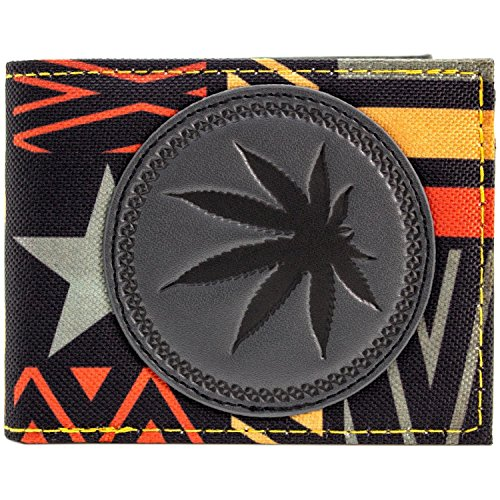 Music Bob Marley Marihuana-Blatt Mehrfarbig Portemonnaie (Blatt Tasche Kostüm)