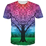 Bfustyle Mens Galaxy Baum-Druck Hip Hop Hipster Rundhals T-Shirt T-Stücke Kleidung M