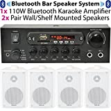 Bar/Restaurant/Home Bluetooth Wall Mounted White Speaker System -Wireless - Best Reviews Guide