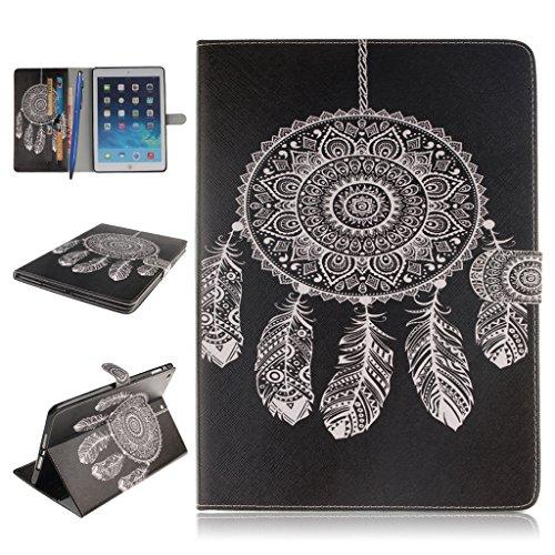 iPad Air Funda,Careynoce Atrapasueños León Tigre Pattern Flip PU Cuero Carcasas Funda Case Cover para Apple iPad Air iPad 5 (9.7 pulgada) - Negro Atrapasueños