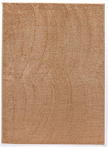 Luxus Hochwertiger einfarbiger Teppich Modern Größen Camel (120x170)