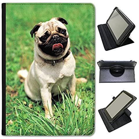 Pug In The Park Ready To Play Universal Faux Leather Case Cover / Folio for the Bush Spira B2 10