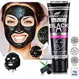 Black Mask, Charcoal Peel Off Mask, Blackhead Remover Mask, Black Mud Deep Cleansing Peel Off Acne Mask Activated Charcoal Tearing Mask for Face Nose (100ml)