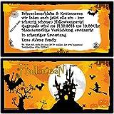 Einladungskarten zur Halloween-Party Einladung Geburtstag Feier - 30 Stück Halloween Grusel Ticket Motto-Party Eintrittskarte Kinder Erwachsene Kürbis bedruckt