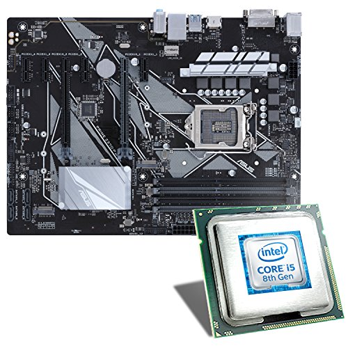 Intel Core i5-8500/ASUS Z370-P Mainboard Bundle | CSL PC Aufrüstkit | Intel Core i5-8500 6 x 3000 MHz, Intel UHD Graphics 630, GigLAN, 7.1 Sound, USB 3.1 | Aufrüstset | PC Tuning Kit