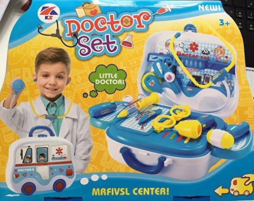 Ärztekoffer, blau, Tolles Geschenk, Doktorset, Set, Spielzeug, Jungs, Doktor, Koffer mit Rädern Geschenk für Kleinkinder Kinder