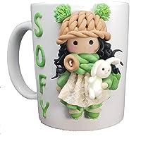 - FoamArt- Tazza Personalizzata con Nome 3D Tutti i Personaggi porcellana fredda