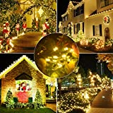 Samoleus 200 LED 22M Luci Della Stringa Di Natale, Catene Luminose da Esterno IP44 Impermeabile per Di Natale Luci, Matrimonio,Festino (Bianco caldo-200 LED 22M)