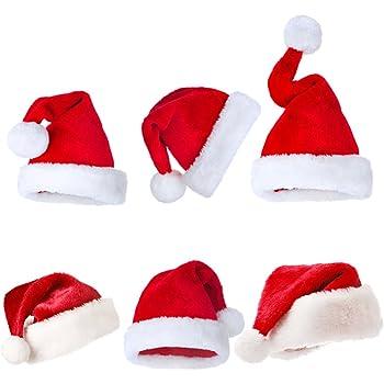 Cappello Babbo Natale Peluche Adulto Bambino Unisex Padre Natale Cappelli  Fantasy Festa Compleanno Travestimento Berretto con e9e1c3fa3837