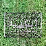SLH Europäische Retro Gusseisen Bodenmatte Garten Hof Eingang Halle Eingang aushöhlen Bodenmatte