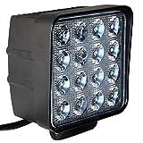 QXXZ Fari LED Da 48W Lampada Da Lavoro E Backup Lampada LED 12V 24V Riflettore Proiettore Fanale Anteriore Faro Da Lavoro SUV, UTV, ATV Faro Fuoristrada Fari Ausiliari 2Pz,24V
