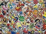 Lot de stickers enfant, héros, personnages de dessins animes, animaux, BD, cartoon, autocollants en vinyl étanche, super-héros,...