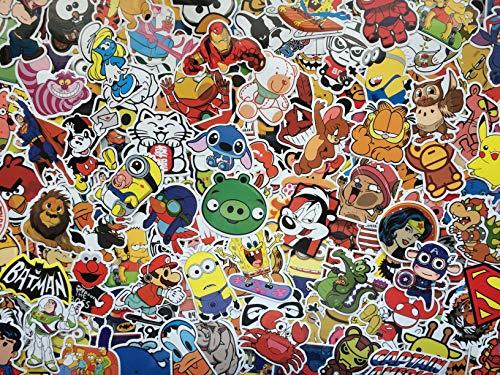 Set von Aufklebern kind, helden, zeichentrickfiguren, tiere, cartoons, comic strip, superheld, videospiele, bumper sticker pack für kinder, laptop, fahrrad, gepäck, skateboard, Vinyl-Aufkleber (100) -