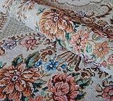 Lurex Jacquard Bouquet Romantique mit Glittereffekt Meterware ab 1,0 m Breite 150 cm Gobelin Stoff Gardinenstoff Dekostoff Jacquard Stoff Möbelstoff Romantik Jugendstil Baroque