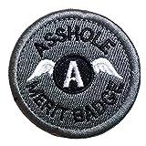 Klett - Asshole Merit Badge Military Tactical Morale Funny Patch - 5cm Diameter Applique for Gear, Backpack, Baseball Cap, Vest. Aufnäher Klettverschluss