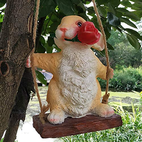 OYBB Ornaments Statues Bunny Small Animals Swinging Sky Hanging Shop Mall Garden Garden Decoration Branch Wall Ceiling Pendant