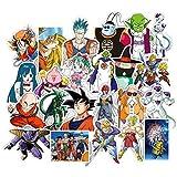 lunanana Anime Dragon Ball Z Aufkleber, Vinyl Kawaii Sticker für Laptop, Wasserflaschen, Gepäck, Skateboard, PS4, Xbox One, Phone, Car Erwachsene(50pcs)