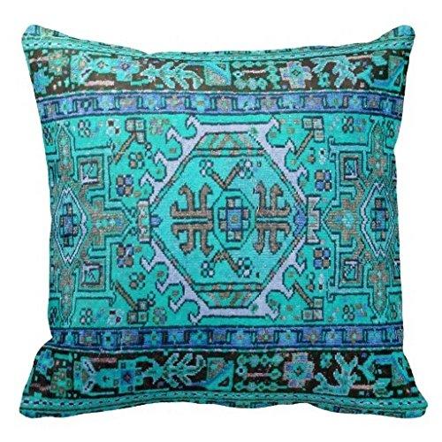 Vincent vivi trendy stampa di antiquariato orientale tappeto in splendido blues throw pillow case