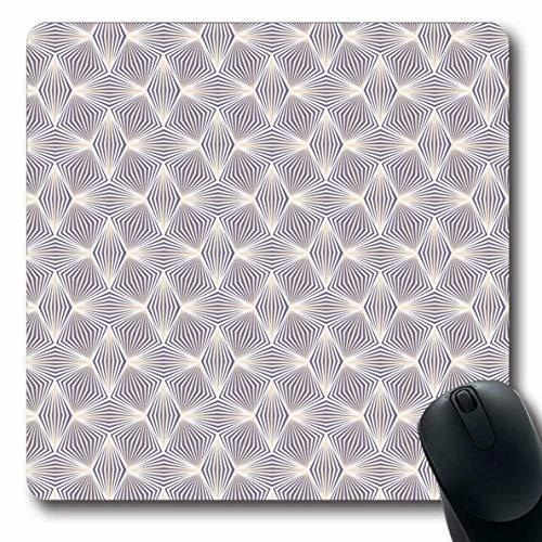 Luancrop Mauspads für Computer Polster Antike geometrische Muster Abstrakte Vintage Bluse Kleid Effekt Grafikdesign rutschfeste längliche Gaming-Mauspad -